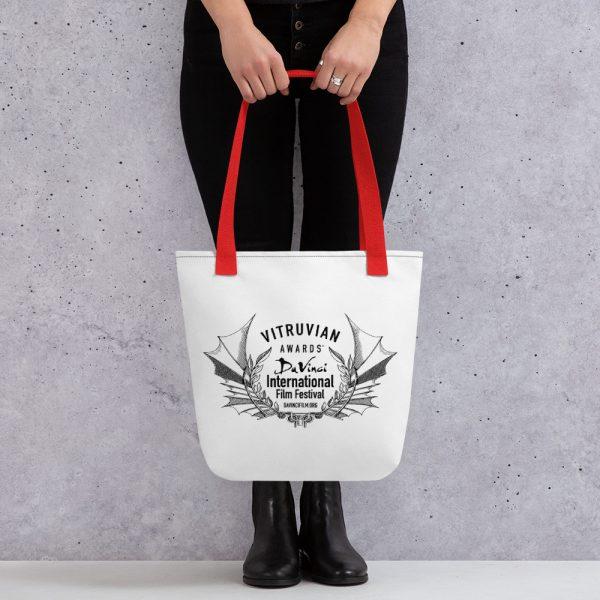 all over print tote red 15x15 mockup 6019d304f058e DIFF VItruvian Laurel Tote bag