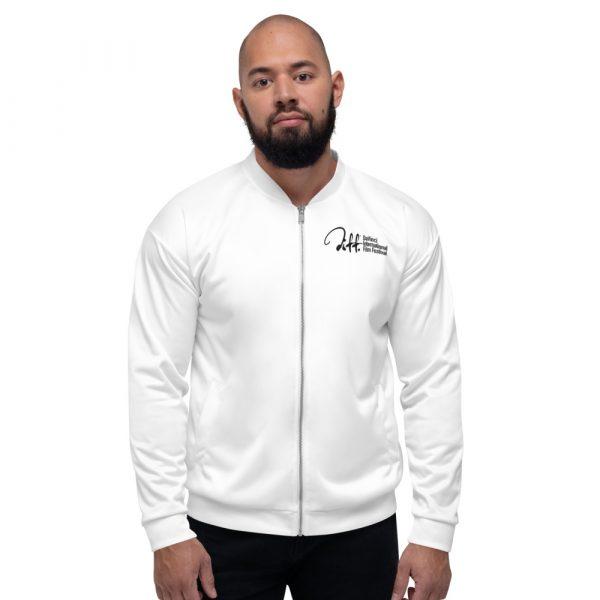 all over print unisex bomber jacket white front 6019eb81cbf19 DIFF Unisex Bomber Jacket