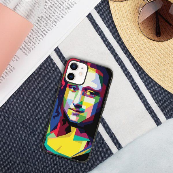 biodegradable iphone case iphone 12 mini case on phone 6019d35187e73 DIFF Mona Lisa Biodegradable phone case