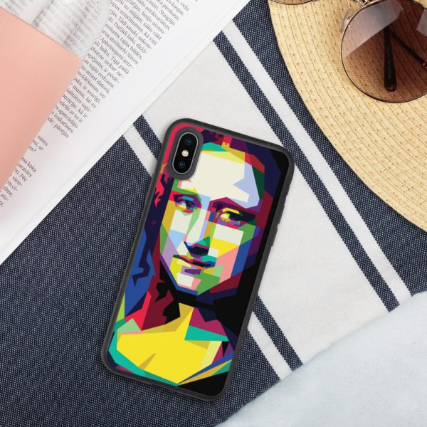 biodegradable iphone case iphone x xs case on phone 6019d35188013 DIFF Mona Lisa Biodegradable phone case