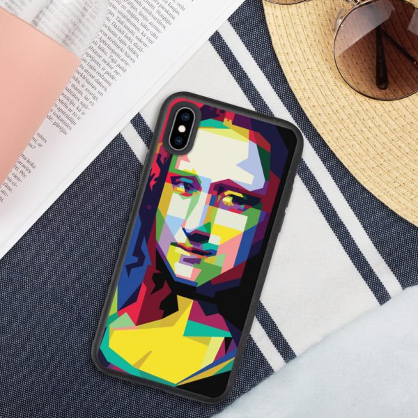 biodegradable iphone case iphone xs max case on phone 6019d35188112 DIFF Mona Lisa Biodegradable phone case
