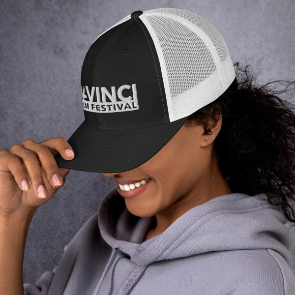 retro trucker hat black white left 6019d2380b368 DIFF Trucker Cap