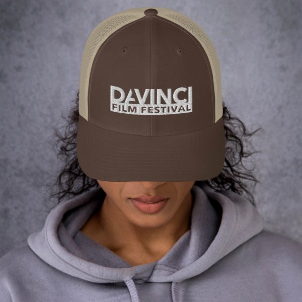 retro trucker hat brown khaki front 6019d2380b6fd DIFF Trucker Cap