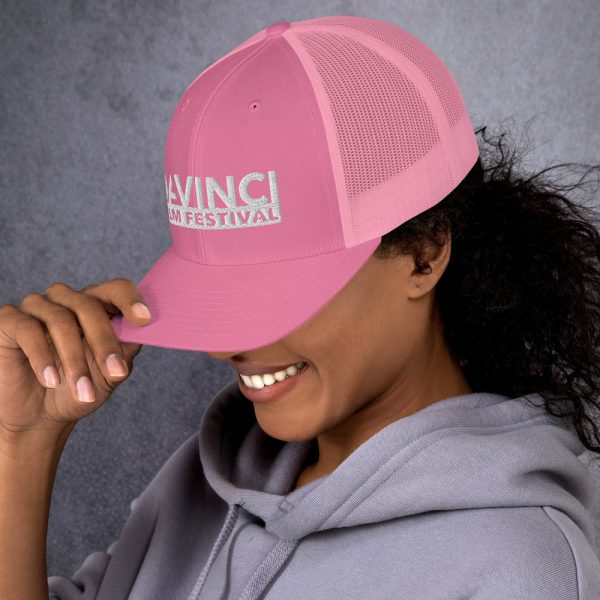retro trucker hat pink left 6019d2380ba35 DIFF Trucker Cap