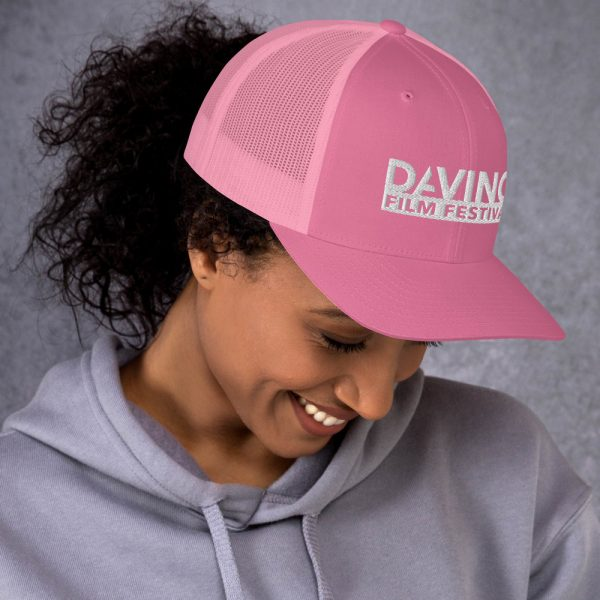 retro trucker hat pink right 6019d2380ba89 DIFF Trucker Cap