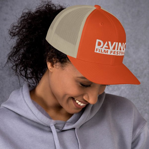 retro trucker hat rustic orange khaki right 6019d2380b911 DIFF Trucker Cap