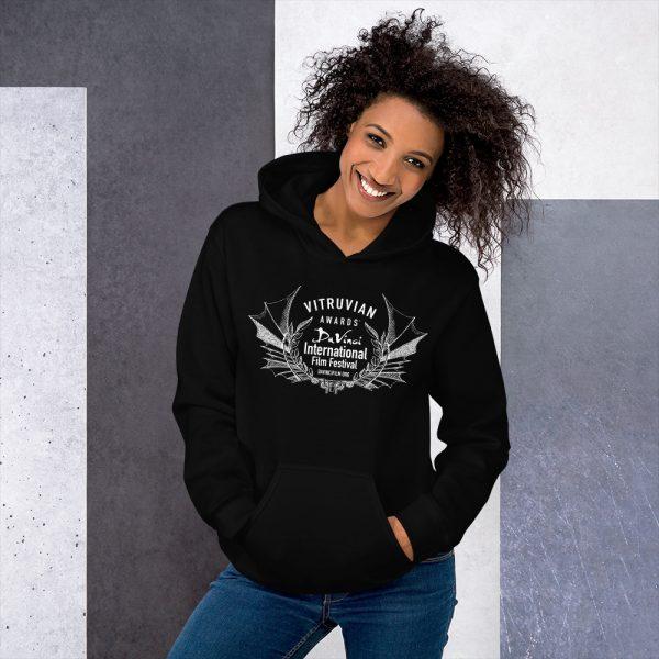 unisex heavy blend hoodie black front 6019d1b17d7a8 DIFF Vitruvian Laurel Unisex Hoodie