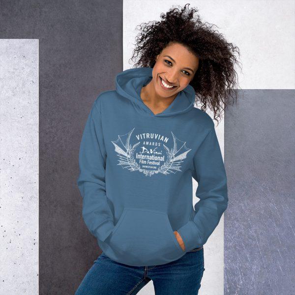 unisex heavy blend hoodie indigo blue front 6019d1b17cc7d DIFF Vitruvian Laurel Unisex Hoodie