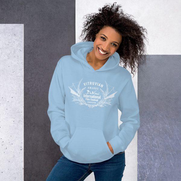 unisex heavy blend hoodie light blue front 6019d1b17ef7c DIFF Vitruvian Laurel Unisex Hoodie