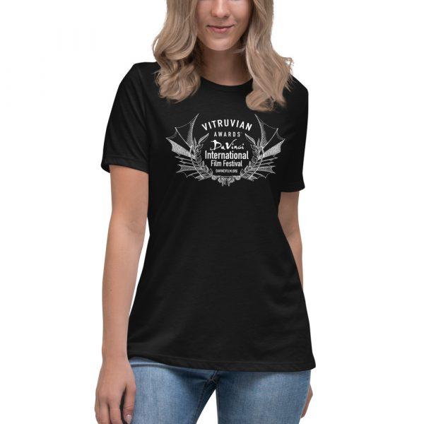 womens relaxed t shirt black front 6019d1e1a0e35 DIFF Laurel Women's Relaxed T-Shirt