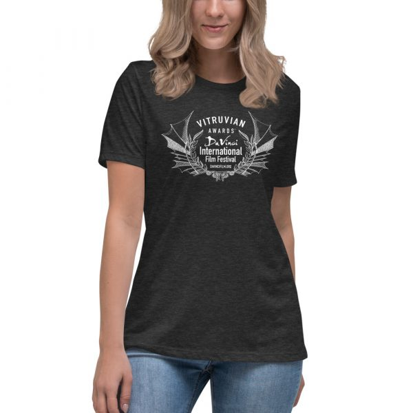 womens relaxed t shirt dark grey heather front 6019d1e1a0f8a DIFF Laurel Women's Relaxed T-Shirt