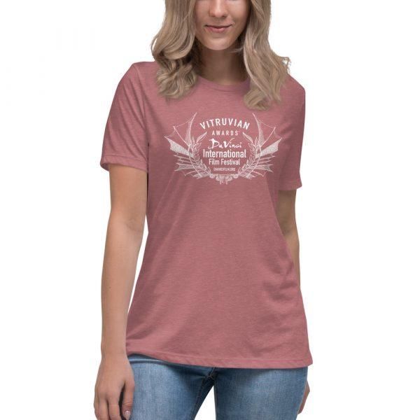 womens relaxed t shirt heather mauve front 6019d1e1a0a40 DIFF Laurel Women's Relaxed T-Shirt